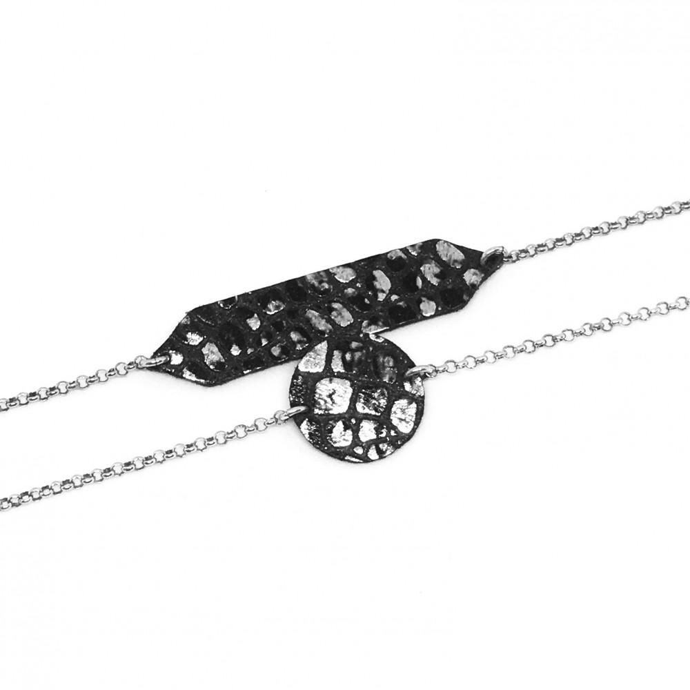 Circle bracelet silver