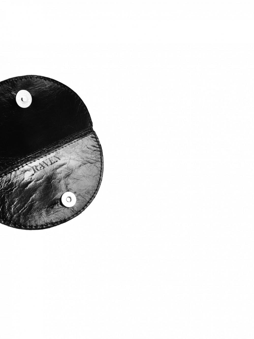 Circle wallet mini black